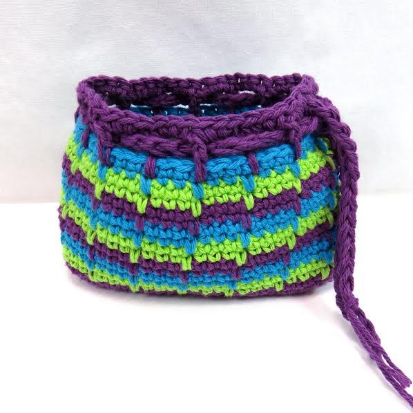 Spike Stitch Makeup Bag Allfreecrochet
