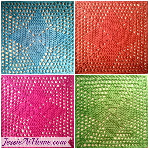 Four Points Crochet Square Allfreecrochet