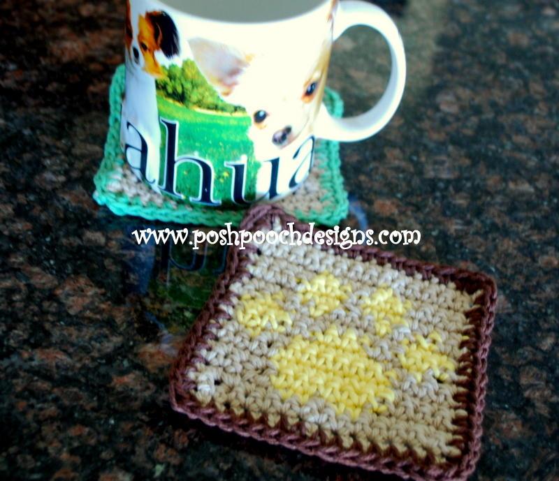 Paw Print Crochet Coaster Allfreecrochet