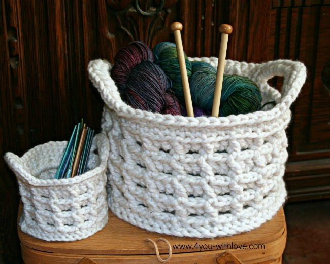 Box Stitch Crochet Basket AllFreeCrochet.com