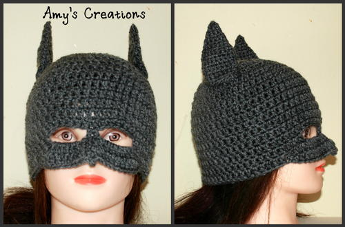 Batman hat allfreecrochet i made this batman hat for my 7 year old daughter who loves this kind of stuff i hope you enjoy click here for the free crochet pattern dt1010fo