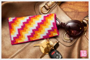Retro DIY Plastic Canvas Glasses Case