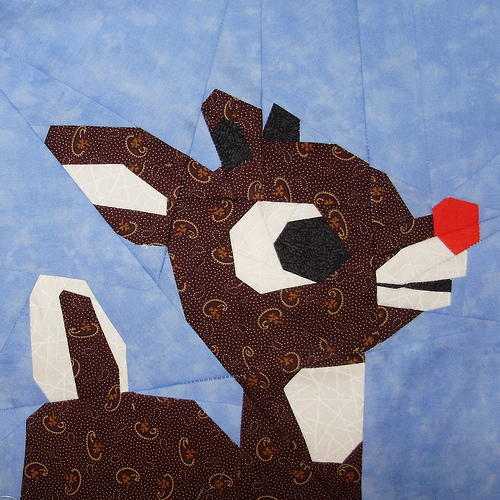 Paper Pieced Rudolph Block Favequilts Com