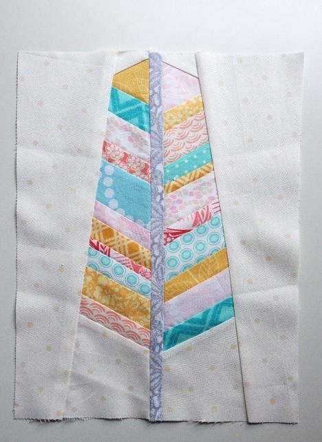 Feather Paper Piecing Pattern FaveQuilts.com