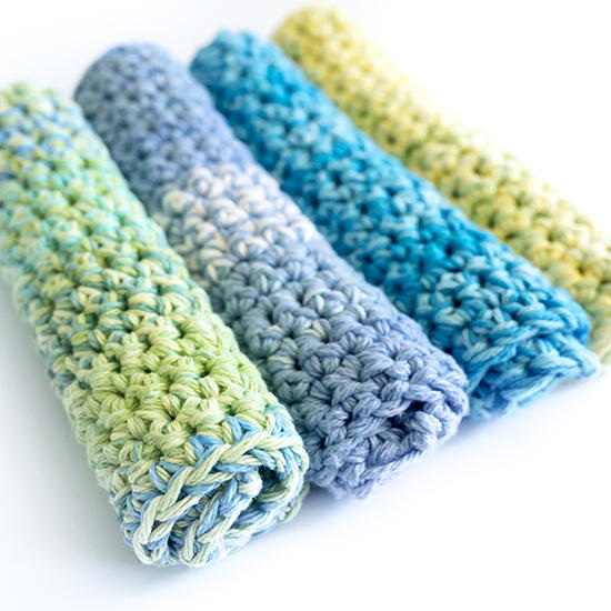 Crocheting Dishcloths For Beginners : Thick Crochet Dishcloths AllFreeCrochet.com