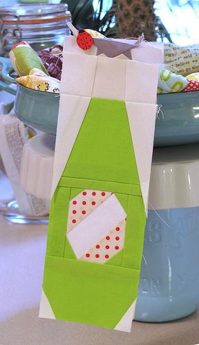 Paper Pieced Pop Bottle
