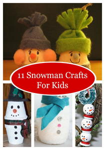 11 Snowman Crafts For Kids