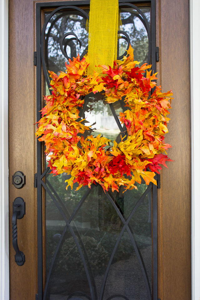 Unbe Leaf Able Diy Fall Wreath Diyideacenter Com