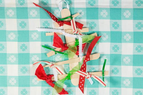 Ribbon Tree Homemade Christmas Ornaments
