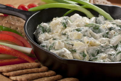 Light Spinach and Artichoke Dip