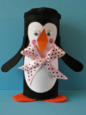 Winter Penguin Toilet Paper Roll Craft Favecrafts