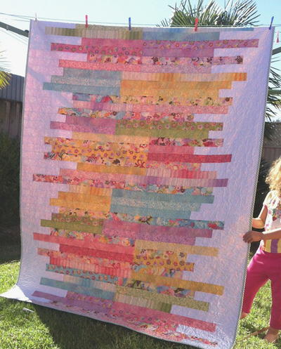 Sugar Almonds Jelly Roll Quilt Pattern | FaveQuilts.com : quilt jelly roll - Adamdwight.com