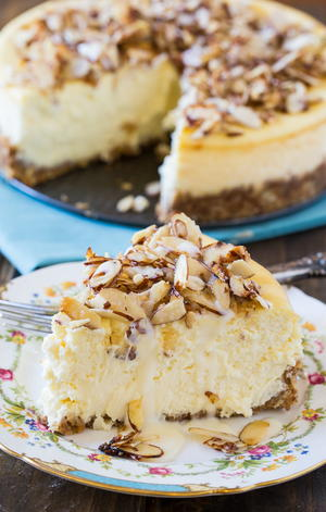 Amaretto Almond Cream Cheese Cake