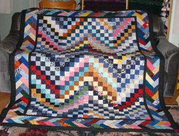 Pioneer Braid Quilt Bargello Border | FaveQuilts.com : braided quilt - Adamdwight.com