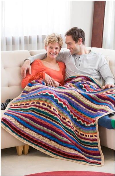 Southwest Sunset Crochet Blanket
