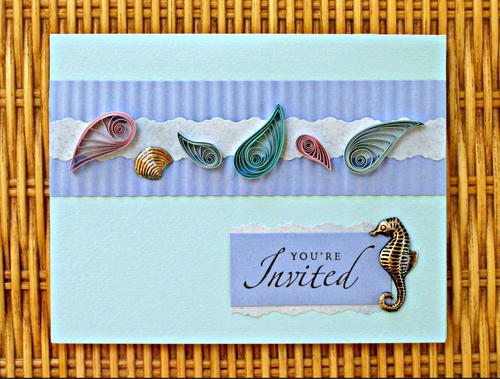 Ocean-Inspired Quilled Paper Cards