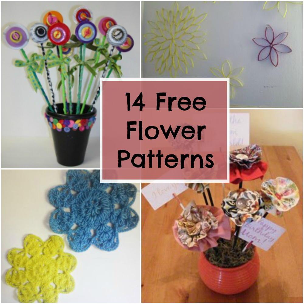 14 Free Flower Patterns Favecrafts