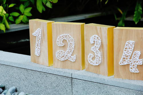 DIY Rustic String Table Numbers