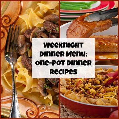 Weeknight dinner menu 10 one pot dinner recipes mrfood all you want to do during the week is relax after a long and difficult day who has time to wash up a bunch of dishes forumfinder Gallery