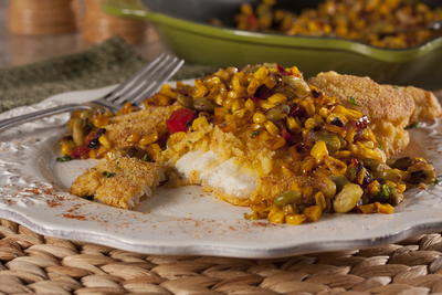 Pan-Seared Catfish with Succotash