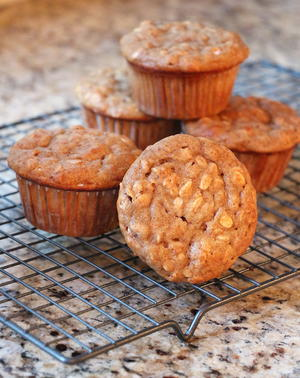 Quick and Simple Banana Oat Muffins