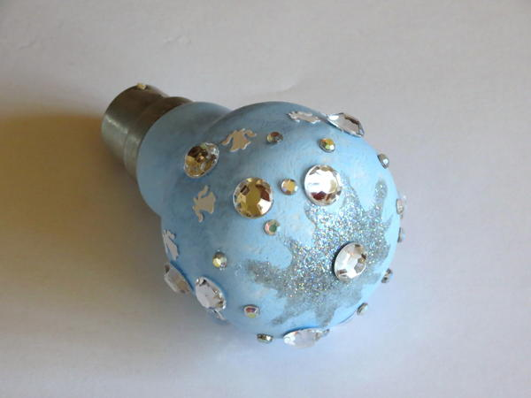 Recycled Lightbulb Christmas Ornament