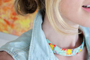 Printed Brass DIY Collar Necklace