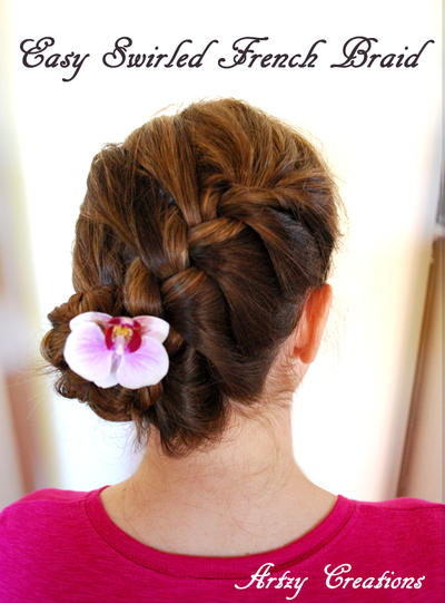 5 Minute French Braid Updo