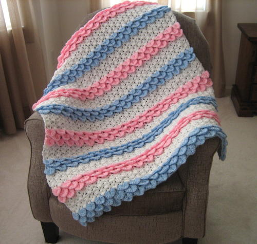 Crocodile Rock Crochet Baby Blanket Allfreecrochetafghanpatterns