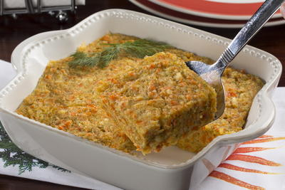 Cheddar Carrot Pudding