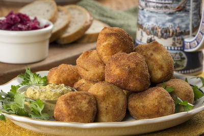 German Sauerkraut and Potato Balls