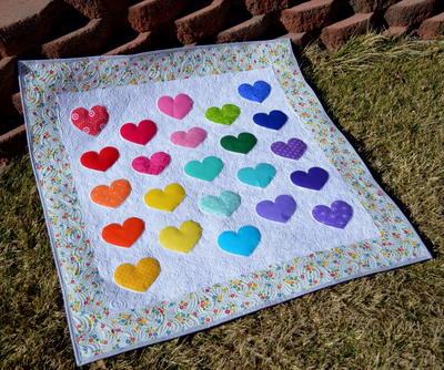 Lovey Dovey Baby Quilt | AllFreeSewing.com