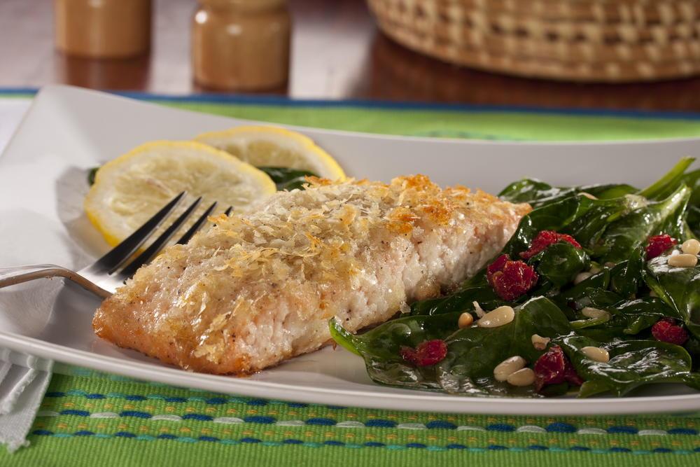 Potato crusted salmon for Potato crusted fish