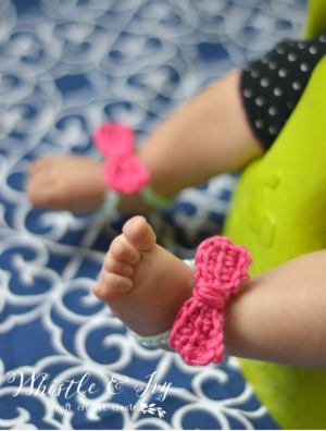 Itty Bitty Bow Sandals Pattern