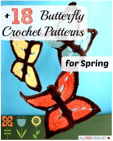 18 Butterfly Crochet Patterns for Spring