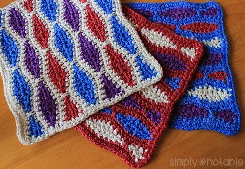 Wonderfully Wavy Dishcloth Pattern Allfreecrochet