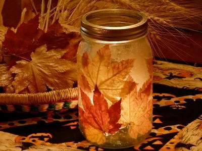 Autumn Mason Jar