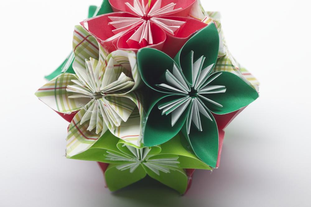 Folded flower ball ornament favecrafts mightylinksfo