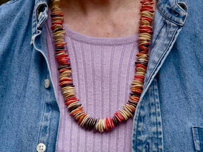 Dyed Pumpkin Seed Necklace