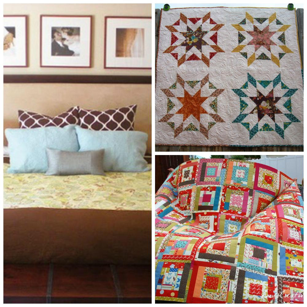 30 free bed quilt patterns to warm up with 14 new for Bed quilting designs