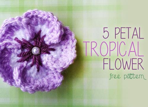 Tropical Flower Crochet Pattern Allfreecrochet