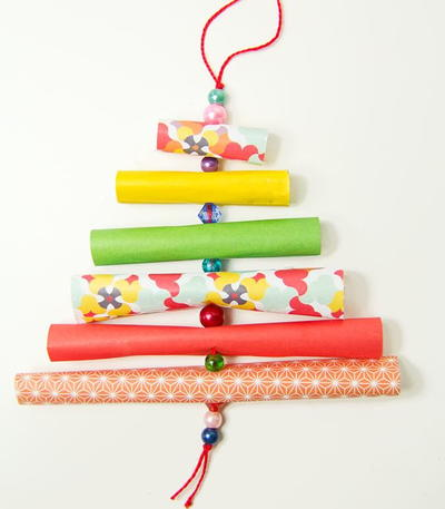 DIY Ornaments Paper and Bead Trees