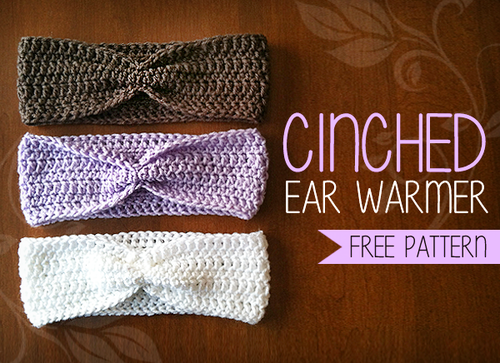 Cozy Cinched Ear Warmer Allfreecrochet