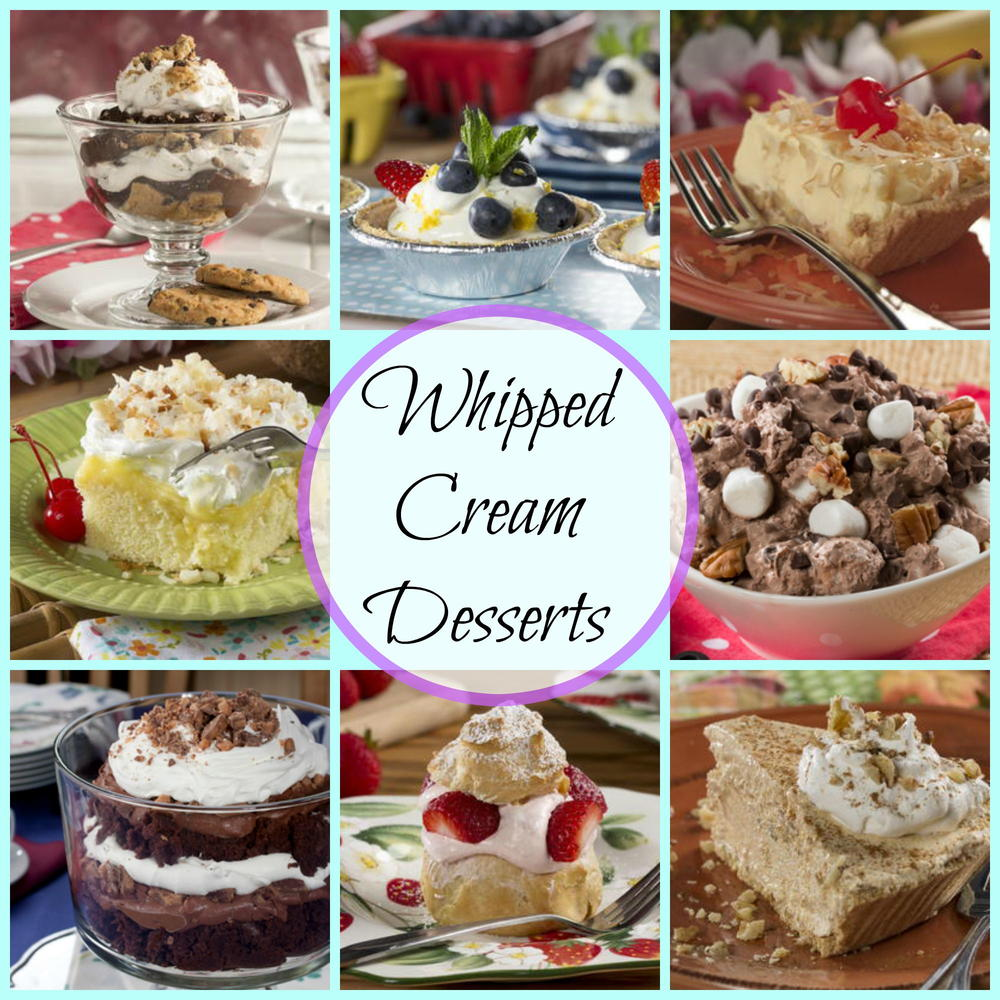 Whipped Cream Desserts: 39 Whipping Cream Recipes