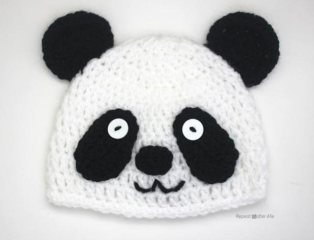 Easy Crochet Panda Hat | AllFreeCrochet.com