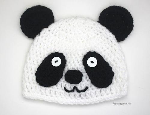 Easy Crochet Panda Hat Allfreecrochet