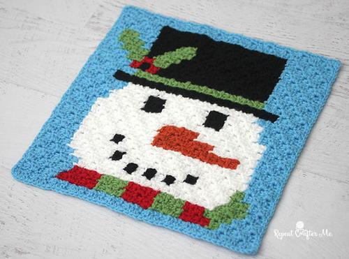 Christmas Crochet Snowman | AllFreeCrochet.com