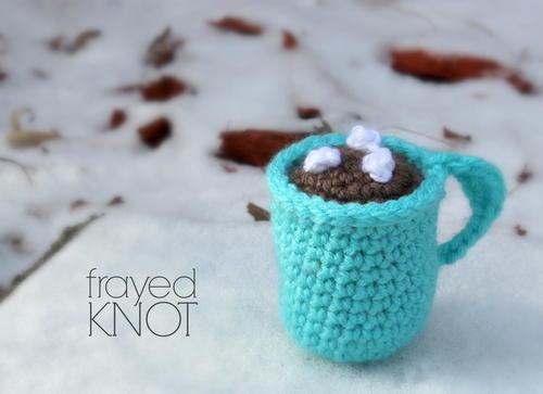 crochet hot chocolate mug ornament allfreecrochet