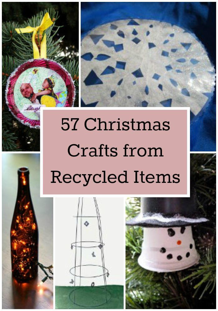 57 christmas crafts from recycled items for Christmas crafts from recycled materials