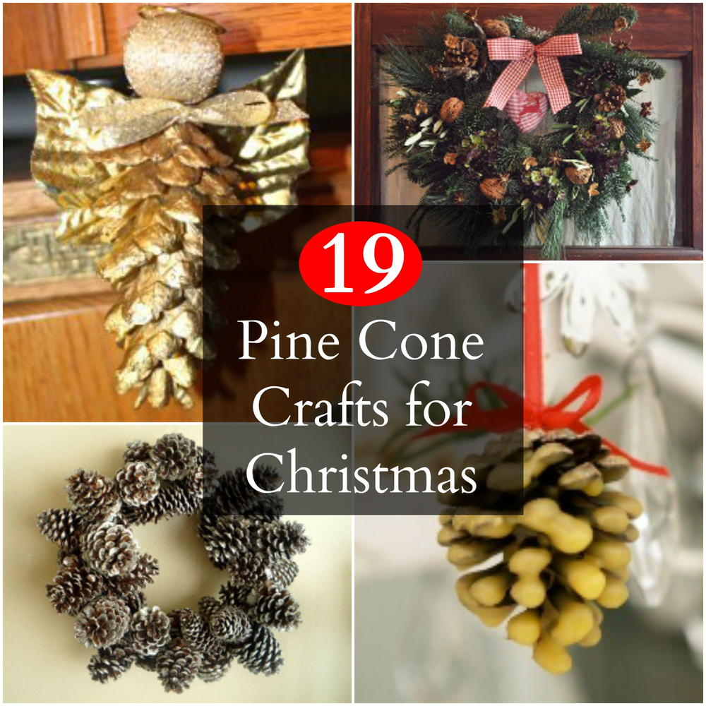 19 pine cone crafts for christmas for Craft ideas with pine cones